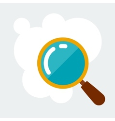 Magnifying glass research concept in flat style vector
