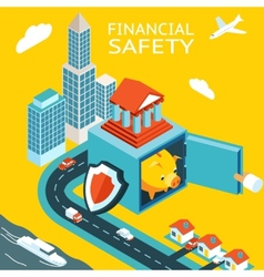 Financial safety and money making vector