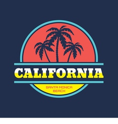 Santa Monica - beach vacation - badge vector image