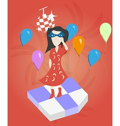 Girl At a Party vector image