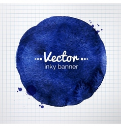Hand painted inky banner vector