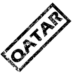 Qatar rubber stamp vector