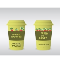 Summer farm fresh cup template stylish mock up vector