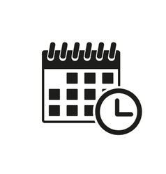 The calendar icon reminder and event time symbol vector