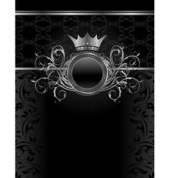silver vintage frame template - vector image