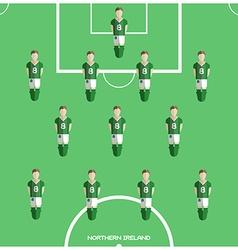 Computer game northern ireland football club vector