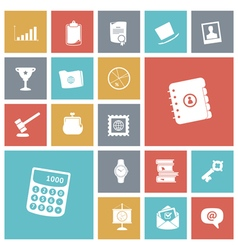 Icons tile business work vector