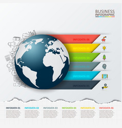 Modern infographics global template vector
