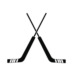 Hockey icon simple style vector