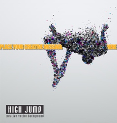 High jump vector image