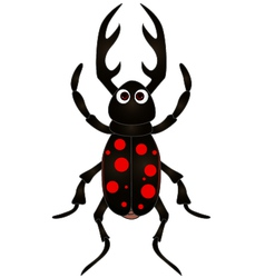 Cartoon beetle on white background vector