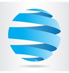 Abstract blue sphere icon ecology concept vector image