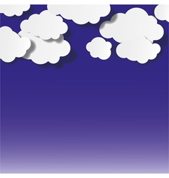 Abstract Clouds Background vector image