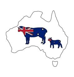 Australian sheeps vector image vector image