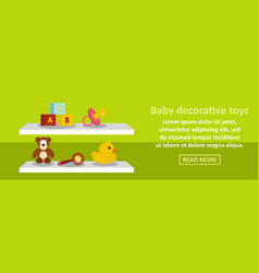 baby decorative toys banner horizontal concept vector image