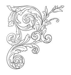 Baroque ornament in victorian style vector