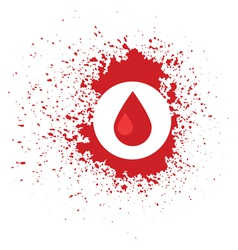 blood icon vector image