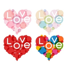 color heart set vector image vector image