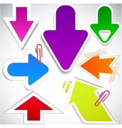 colorful paper arrows vector image