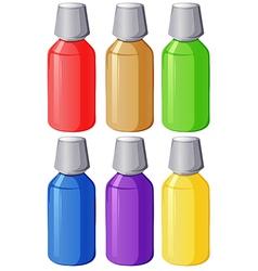 Colourful medical bottles vector