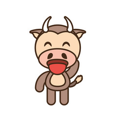 cow baby animal funny image vector image