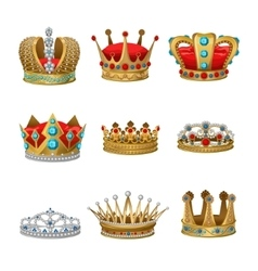Crown Icon Set vector image