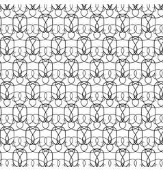 Elegant thin black and white pattern vector