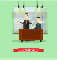 evidence concept in flat style vector image