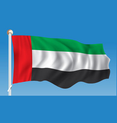 Flag of united arab emirates vector