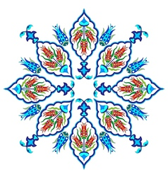 Flowers in the ottoman art two vector