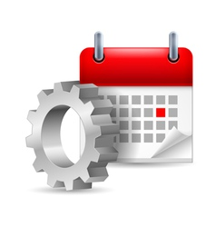 Gear wheel and calendar vector image vector image