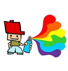 Grafitti cartoon boy vector image
