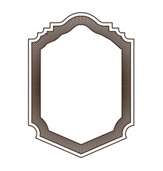 heraldic silhouette decorative badge frame in vector image