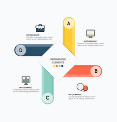 Infographic elements with design on white vector