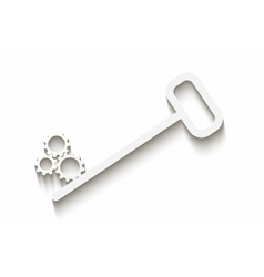 Key with gears vector