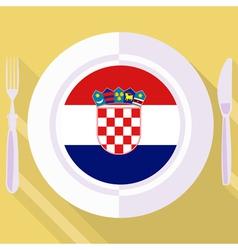 Kitchen of croatia vector
