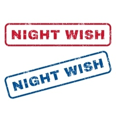 Night wish rubber stamps vector