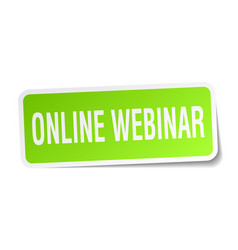 Online webinar square sticker on white vector