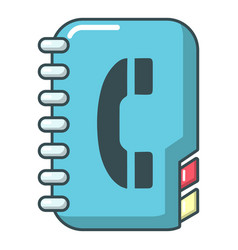 phone book icon cartoon style vector image