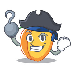Pirate apricot character cartoon style vector