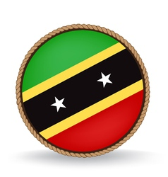 Saint Kitts And Nevis Seal vector image vector image