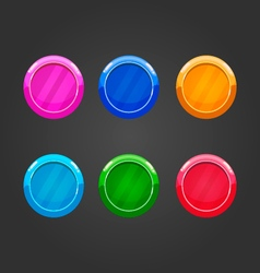 Set of color round buttons vector image