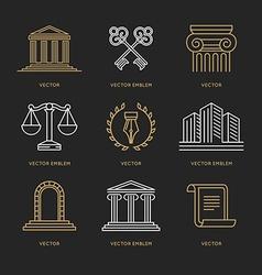 Set of logo design templates vector