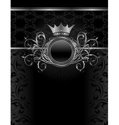 silver vintage frame template - vector image vector image