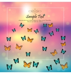 spring background with butterflies vector image