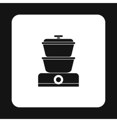 Steam cooker icon simple style vector