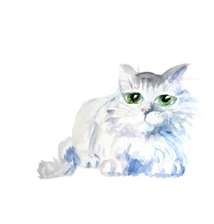 Watercolor cat vector