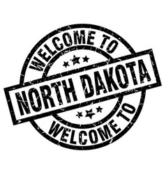 welcome to north dakota black stamp vector image vector image