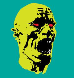 zombie screams head vector image vector image