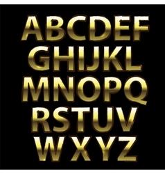 Gold Grunge Alphabet vector image